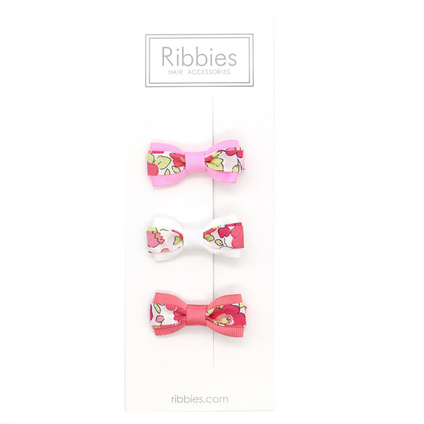 Set of 3 Liberty Bows - Betsy Red