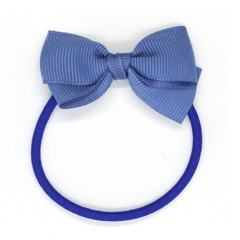 Small Bow Elastic - Smoke Blue