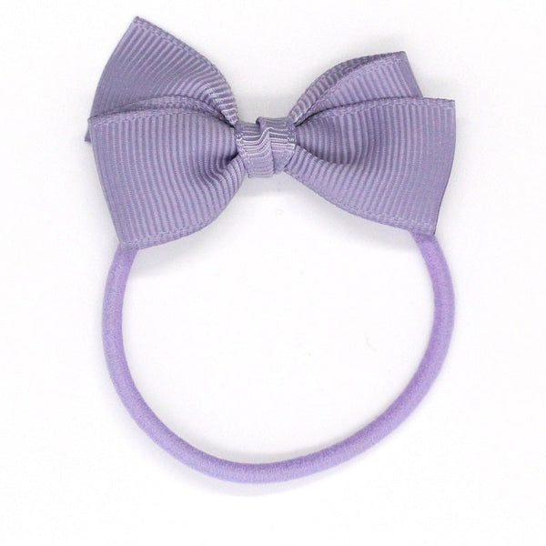 Small Bow Elastic - Pale Grey Blue