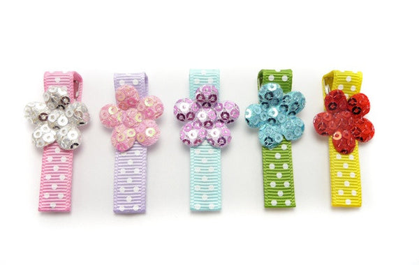 Sparkle Flower Hair Clip Gift Set