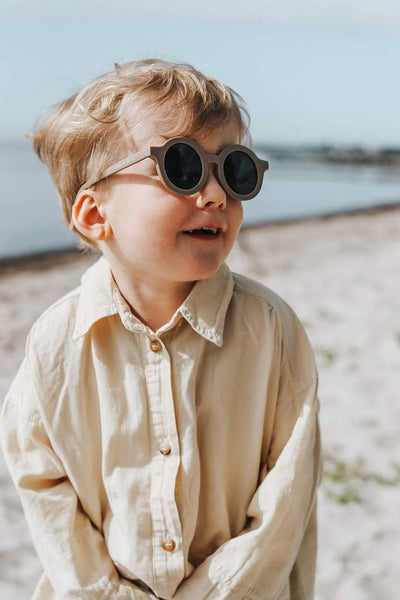 Sustainable Kids Sunglasses - Stone