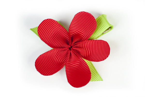 Allie Red Flower Hair Clip