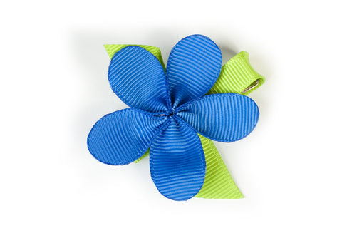 Allie Royal Blue Flower Hair Clip