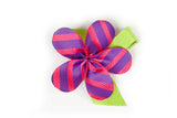 Allie Purple Diagonal Flower Hair Clip