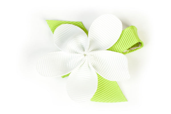 Allie White Flower Hair Clip