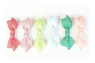 Thin Chevron Hairbow Lime