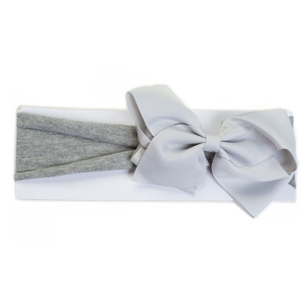 Cotton Jersey Headband Grey