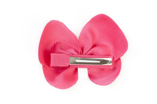Hot Pink Butterfly Hair Clip (Back)