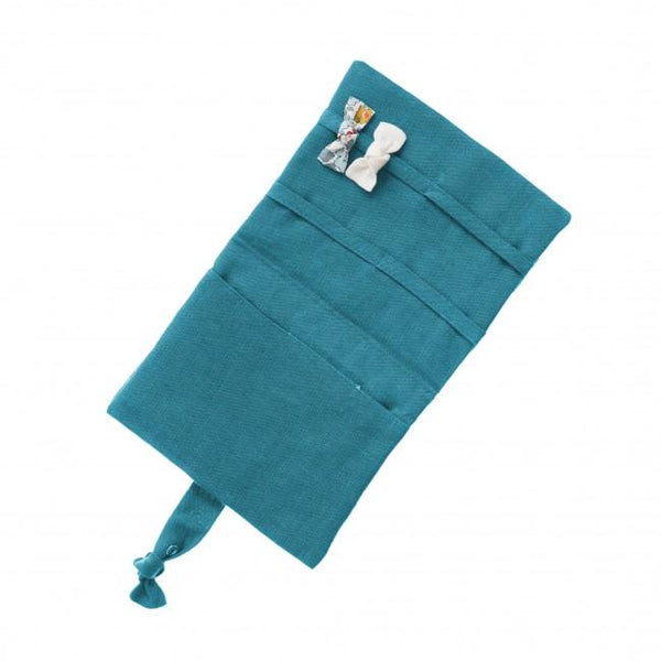 Hair Clips Purse - Turquoise