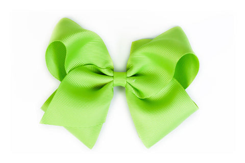 Extra Large Apple Green Hair Bow