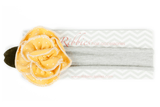 Jersey Headband with Yellow Flower