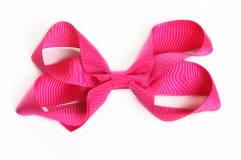 Large Hot Pink Hair Bow