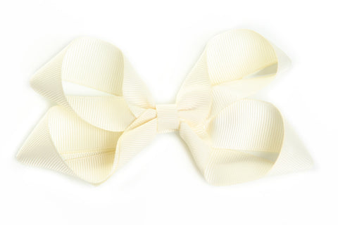 Large Ivory Hair Bow