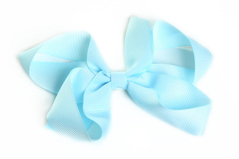 Large Light Blue Hair Bow