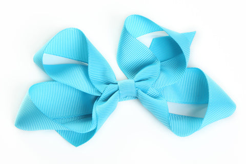 Large Turquoise Hair Bow