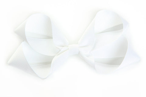 Large White Hair Bow