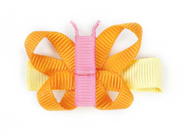 Pastel Butterfly Ribbon Hair Clip