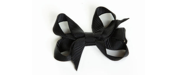 Small Black Hair Bow