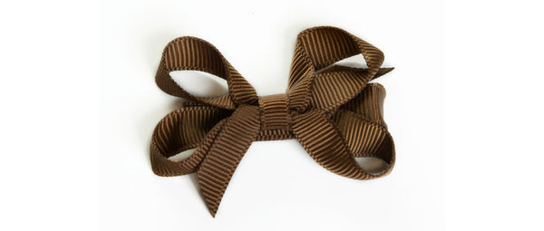 Small Brown Hair Bow