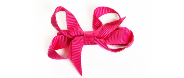Small Hot Pink Hair Bow
