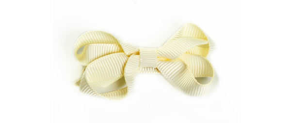 Small Ivory Hair Bow