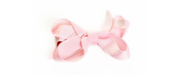 Small Light Pink Hair Bow