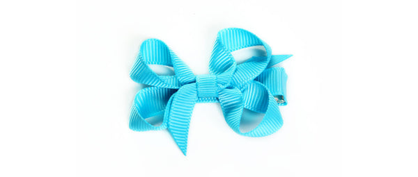 Small Turquoise Hair Bow