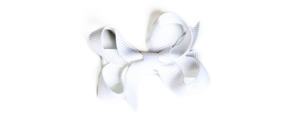Small White Hair Bow