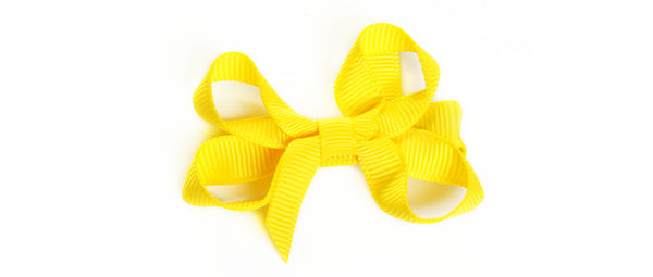 Small Yellow Hair Bow