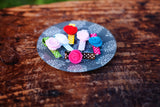 Set of 5 Felt Flower Clips
