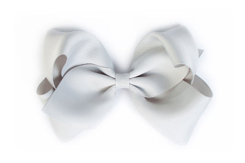 Extra Large Light Grey Hair Bow