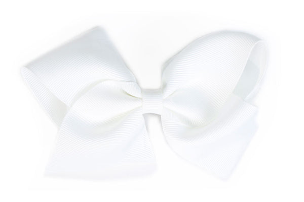 Extra Large White Hair Bow