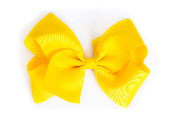 Extra Large Yellow Hair Bow