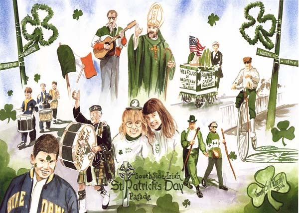 South Side Irish Parade Print