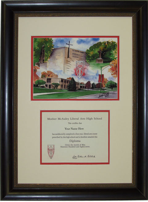 Mother McAuley HS Diploma Frame