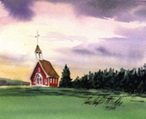 Study for Roadside Church, Colorado