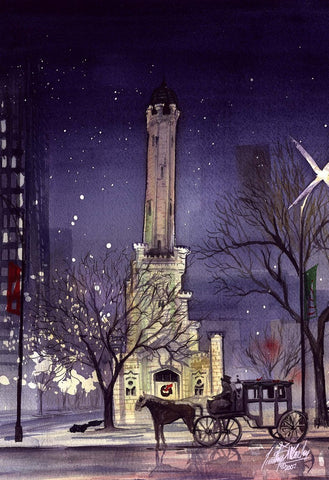Water Tower  Christmas