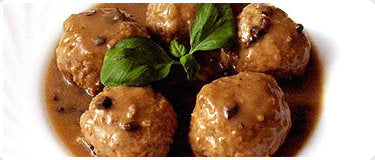 Pork Meatballs in Gravy