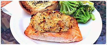 Salmon Stuffed with Mushrooms