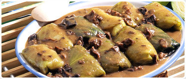 Stuffed Cabbage with Mushrooms Meal