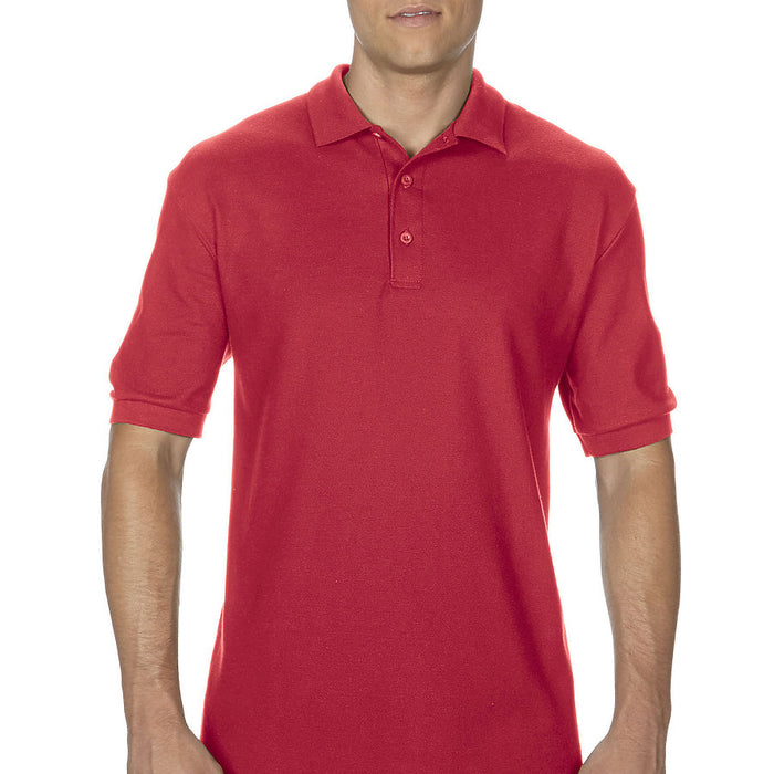 Product image of Red Gildan 82800 - Adult Double Piqué Sport Shirt