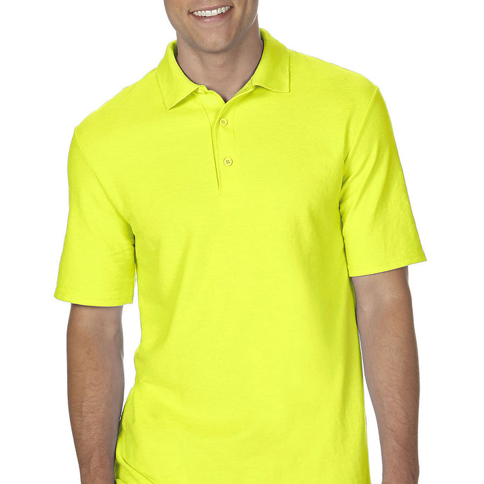 Product image of Safety Green Gildan 72800 - Adult Double Piqué Sport Shirt