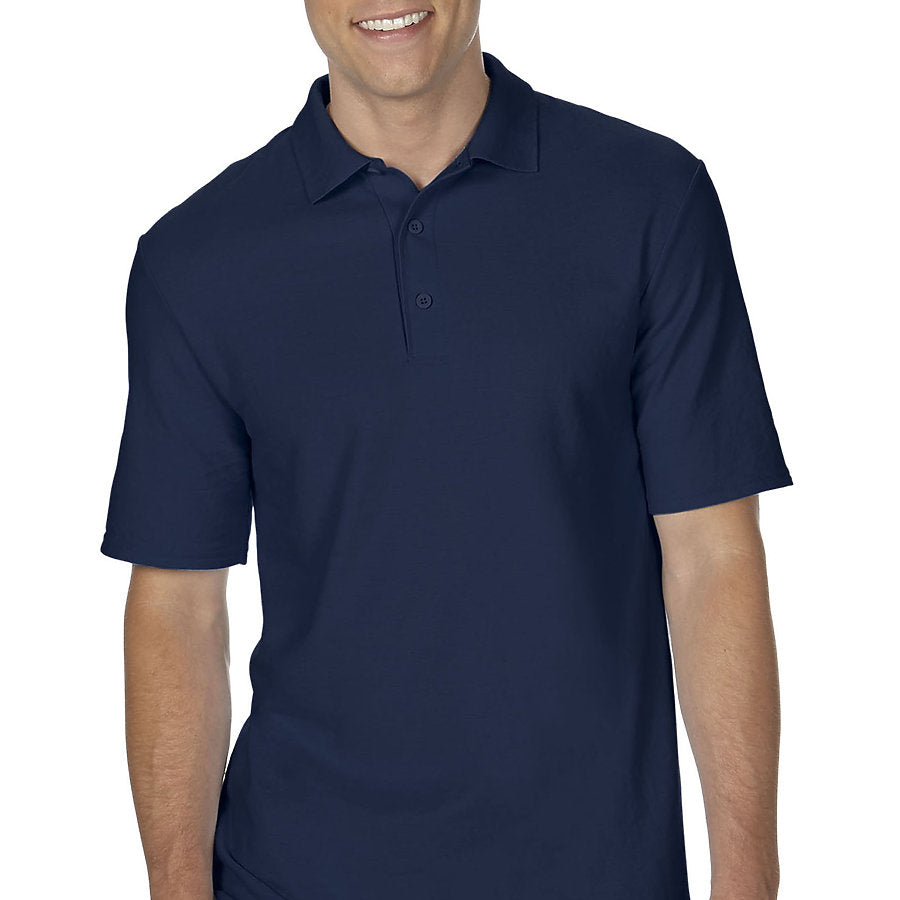 Product image of Navy Gildan 72800 - Adult Double Piqué Sport Shirt