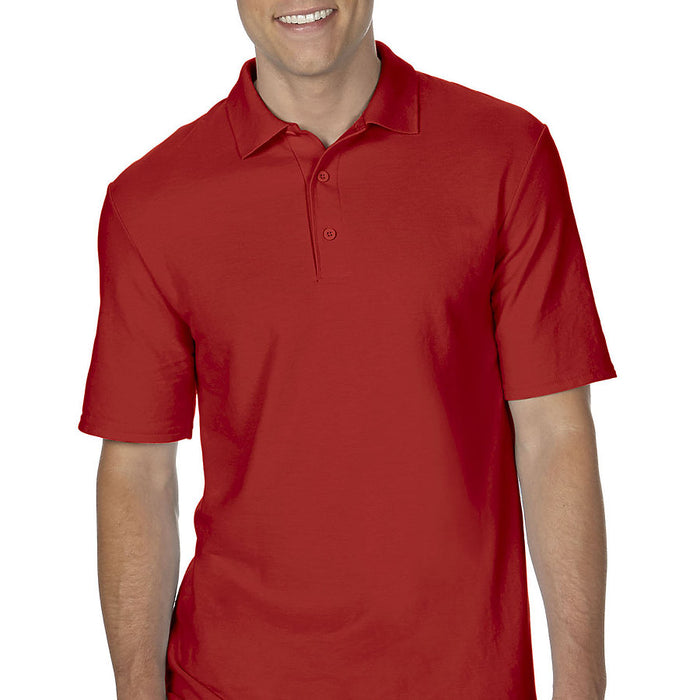 Product image of Red Gildan 72800 - Adult Double Piqué Sport Shirt