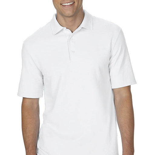 Product image of White Gildan 72800 - Adult Double Piqué Sport Shirt