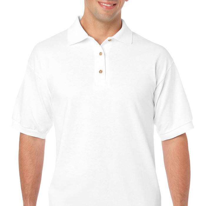 Product image of White Gildan 8800 - Adult DryBlend® Jersey Sport Shirt