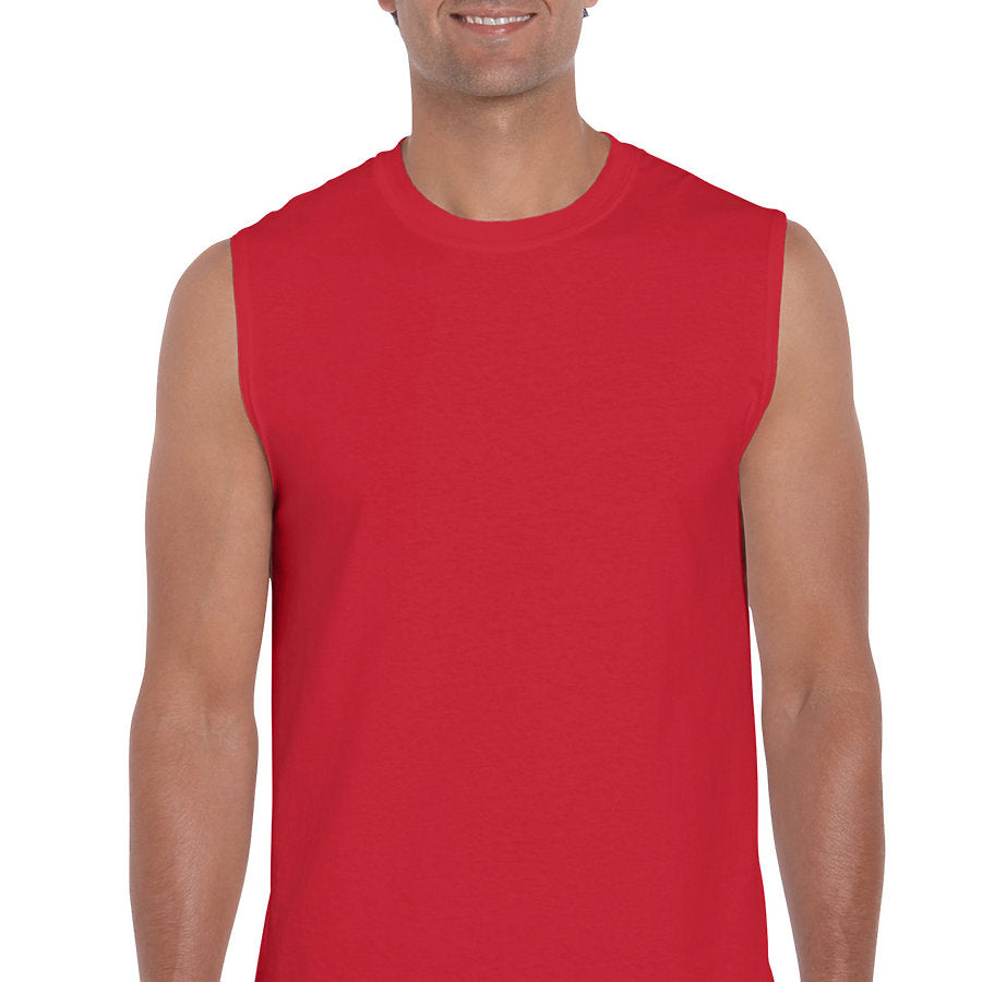 Product image of Red Gildan 2700 - Ultra Cotton Adult Sleeveless T-Shirt