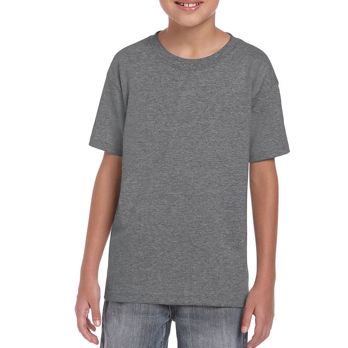Product image of Graphite Heather Gildan 8000B - Youth DryBlend® T-Shirt