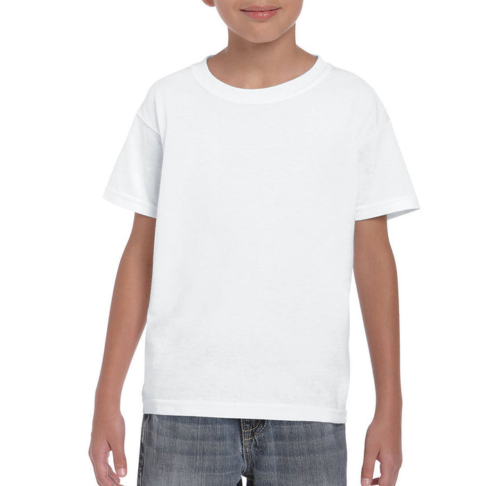 Product image of White Gildan 8000B - Youth DryBlend® T-Shirt