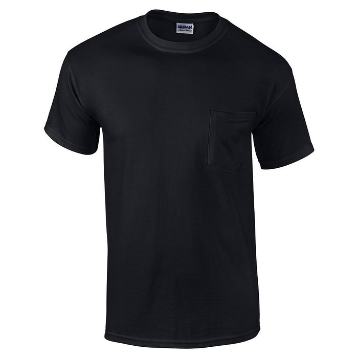 Product image of Black Gildan 2300 - Adult Ultra Cotton T-Shirt with Pocket